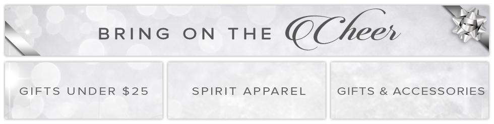 Bring on the Cheer. Gifts Under $25, Spirit Apparel, Gifts & Accessories.